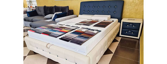 Ofertă specială pat tapițat Comodus cu noptiera tapițată