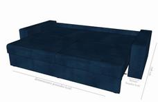 Detaliu extensie și dimensiuni canapea Cassius