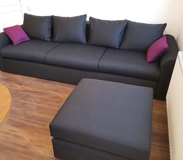 Canapea Cassius cu taburet