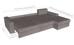 Detaliu extensie și dimensiuni colțar Loca
