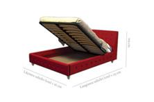 Detaliu ladă somieră rabatabilă pat Comodus