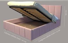 Detaliu ladă somieră rabatabilă pat Shape