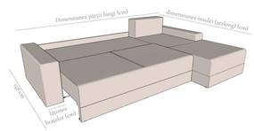 Detaliu extensie și dimensiuni colțar Sydney