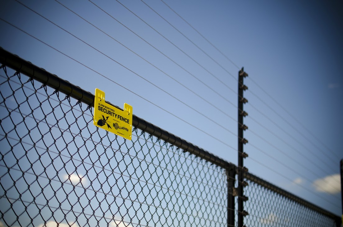 fence and sign