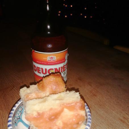 Bierdegustatie blond bier: appelcake met bier en gezouten karamel