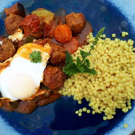 Marokko: tajine met kefta, groenten en abrikoos