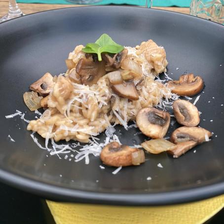 Risotto met paddenstoelen
