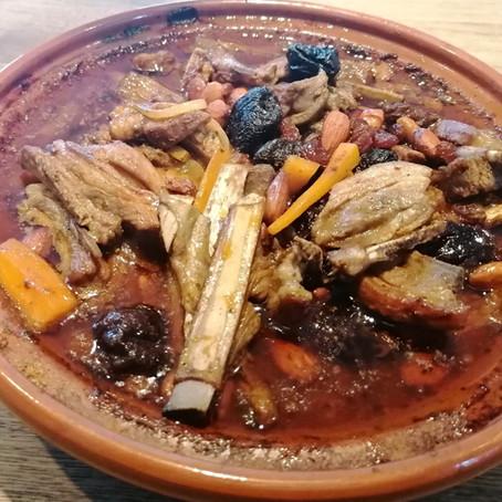Tajine met lamsvlees en pruimen