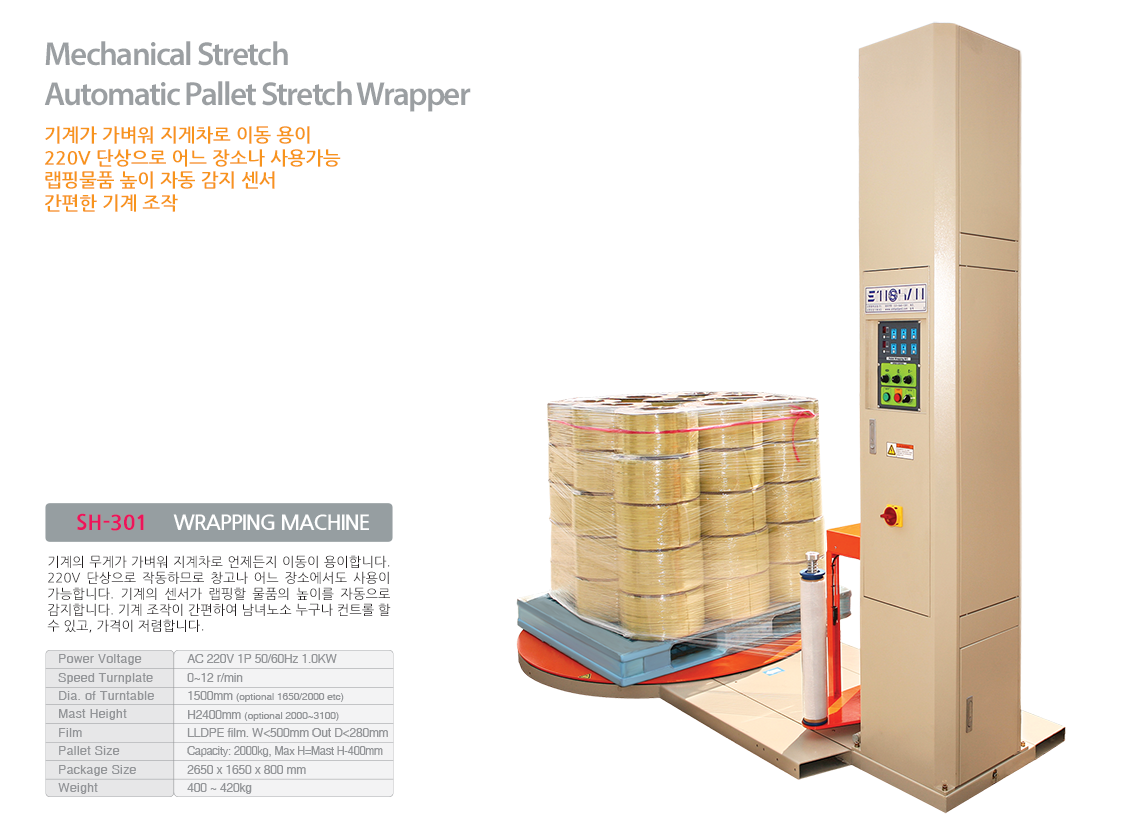 SH-301 WRAPPING MACHINE