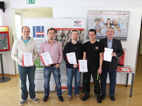 TüV-zertifizierter Photovoltaikpraktiker