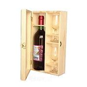 Деревяный футляр для набора бутылки и рюмок