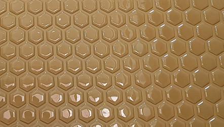 pastilha adesiva resinada - colméia dourado