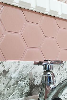 pastilhas adesivas resinadas - hexagonal