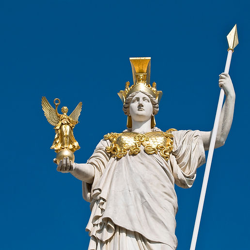the-statue-of-goddess-athena-in-front-of