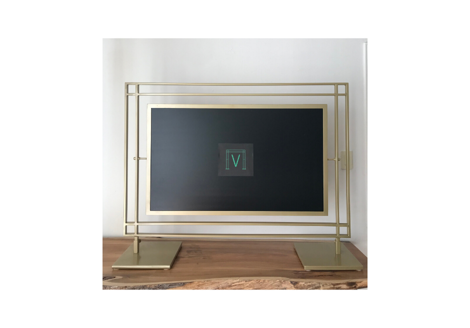 Table Escort/Sign Frame - Gold