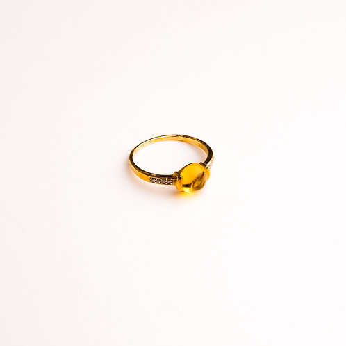 Anillo Oro Amarillo y Diamantes