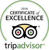 2016 Winner - Trip Advisor Certificate of Excellence