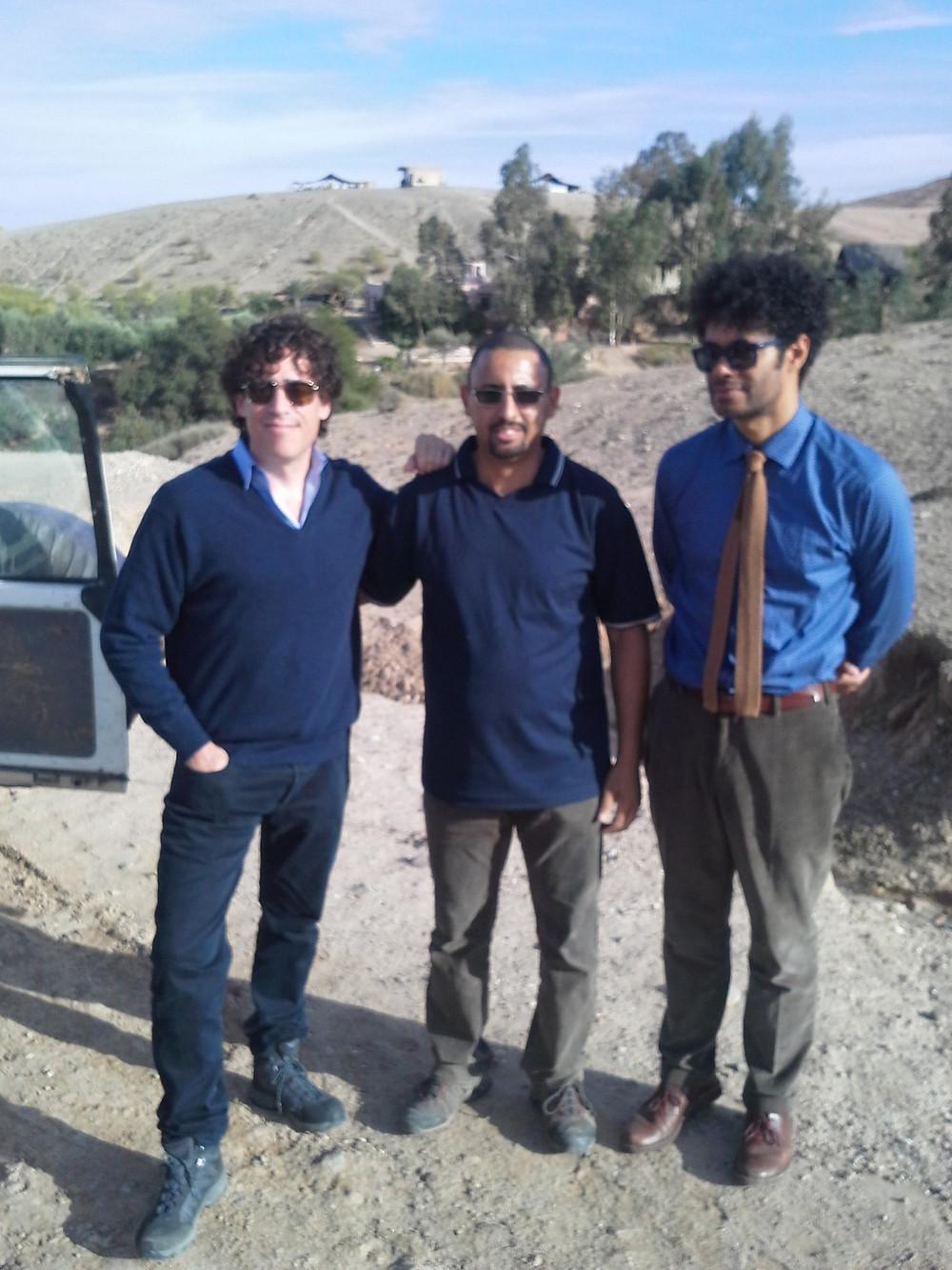 Kamal from Marrakesh Keys Travel onset with Richard Ayoade and Stephen Magnan.jp