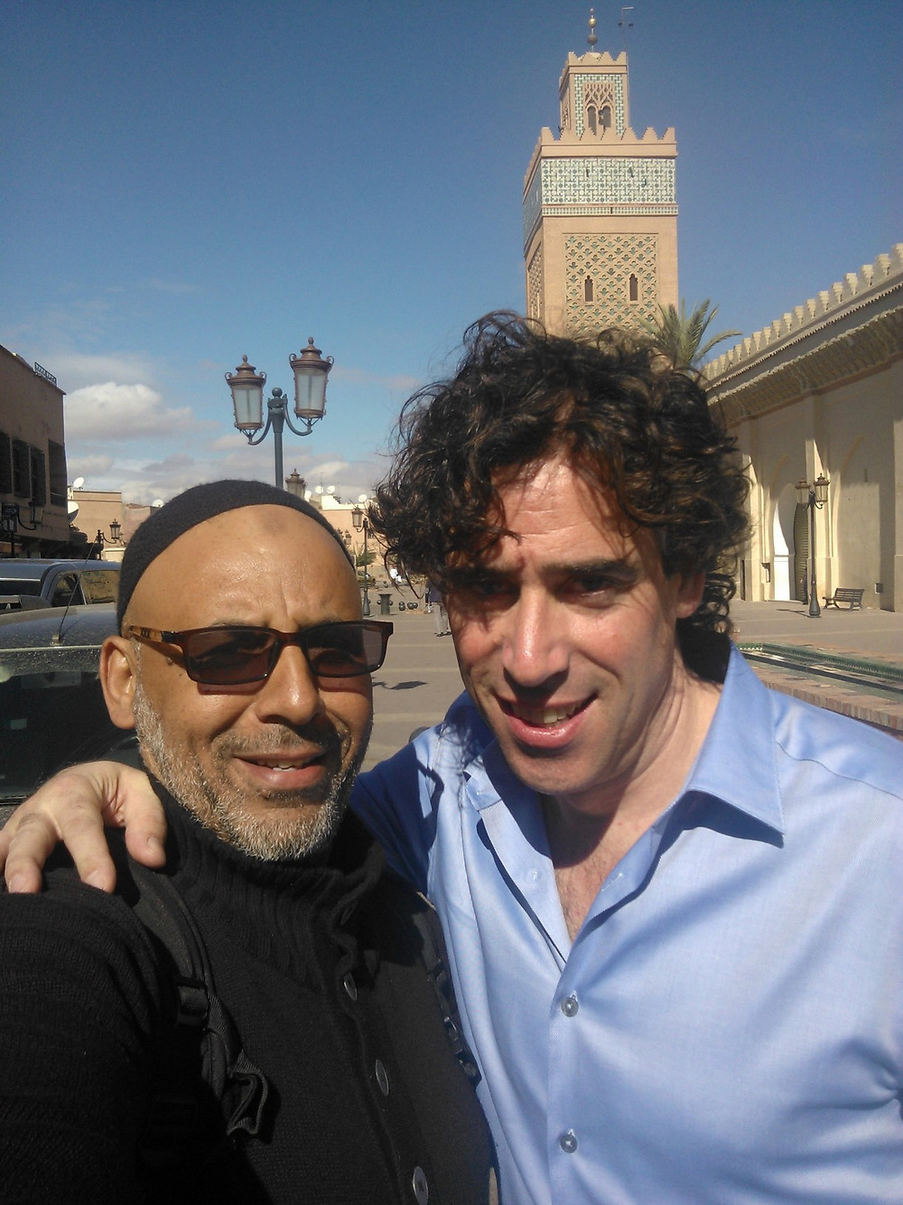 Aziz in Marrakech with Stephen Mangan.jpg