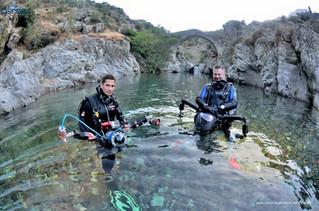 """Tournage du documentaire                       """"Corse rivières sous surveillance"""""""