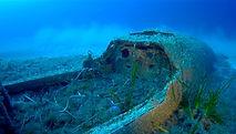 épave du P-51 Mustang de l'isolella Ajaccio, corse