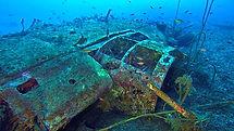 épave du Heinkel 111 de Bastia, corse