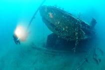 plongée sur les  épaves sous-marines de la corse
