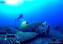 épaves sous-marines d'avions américains en corse