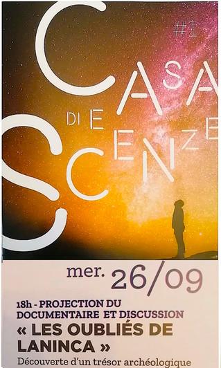 """Projection du film """"Les oubliés de Laninca"""" A la maison des sciences de Bastia samedi 26 septembre"""