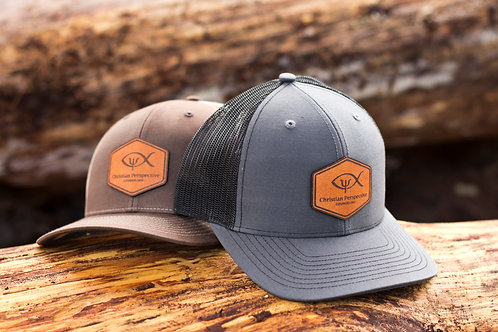 CPC Leather Badge Curved Trucker Hat