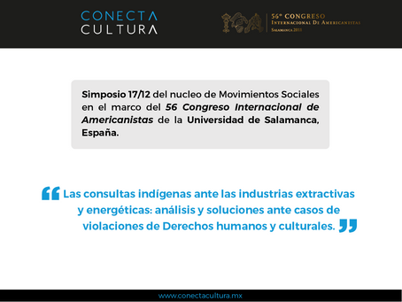 """Simposio 17/12 """"Las Consultas Indígenas ante las Industrias Extractivas y Energéticas: Análisis"""