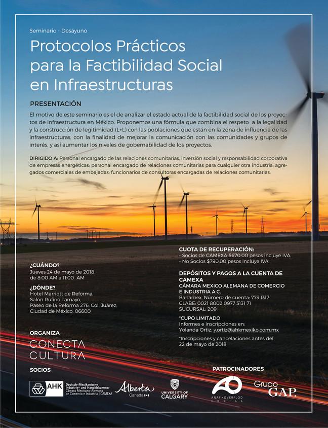"""Seminario """"Protocolos prácticos para la factibilidad social en infraestructuras"""""""
