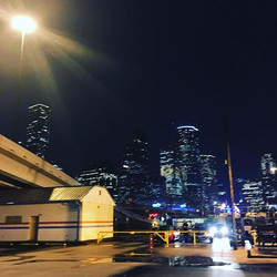 #Citylights of #houston as seen from the #amtrak station