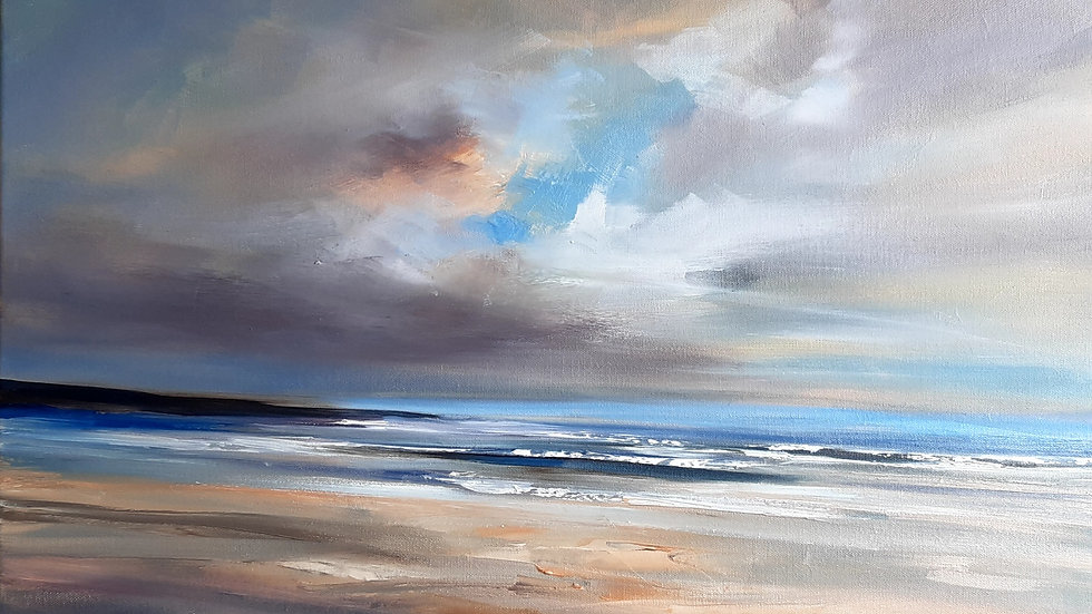 Spring day on Broad beach, Anglesey Sold