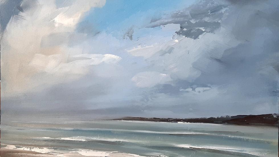 Spring tide Church bay in Anglesey