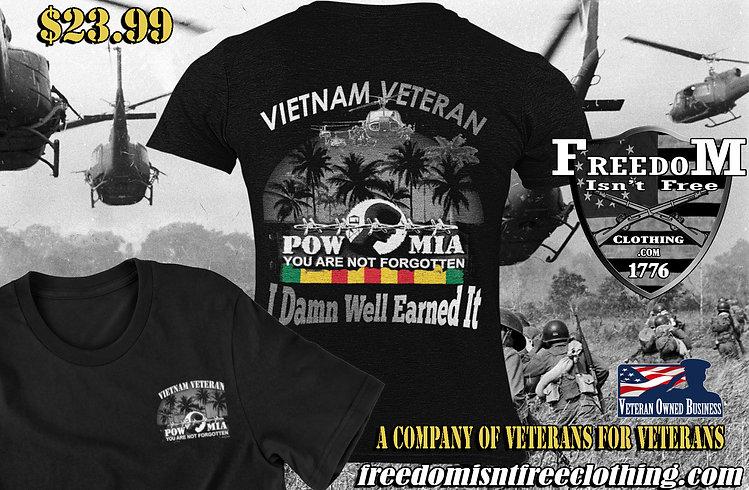 powmia I damn well earned it vietnam bat