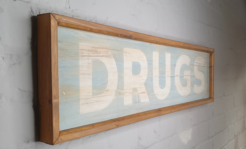 Antique chemist drug sign