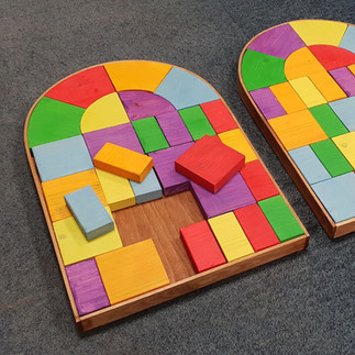 Stained glass kids puzzle