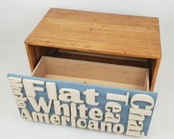 Coffee text table