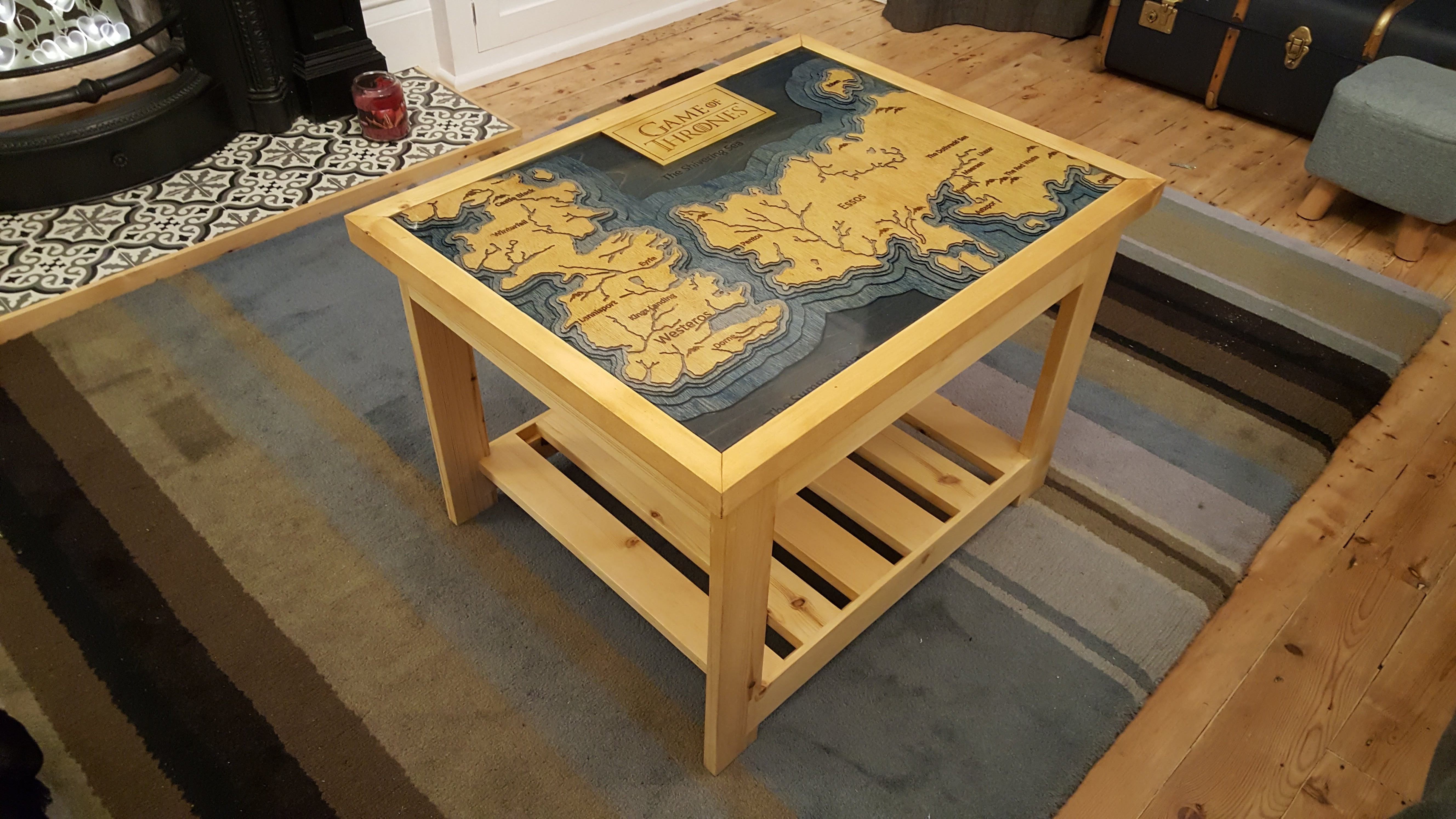 CNC & resin Game of thrones table