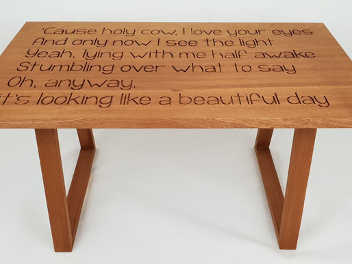 Sapele Lyrics coffee table