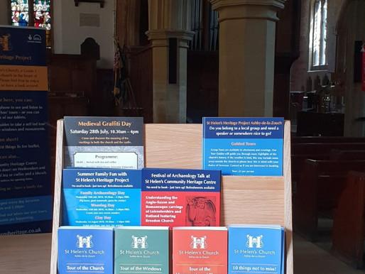St Helens Heritage Oak Literature holder
