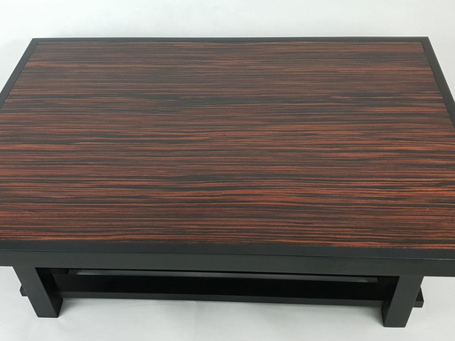 Red ebony veneer coffee table