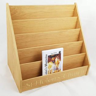 Oak venerred literature / leaflet holder