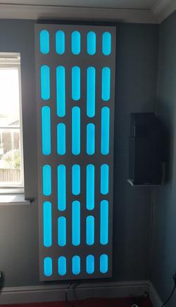 Death star room wall light panels