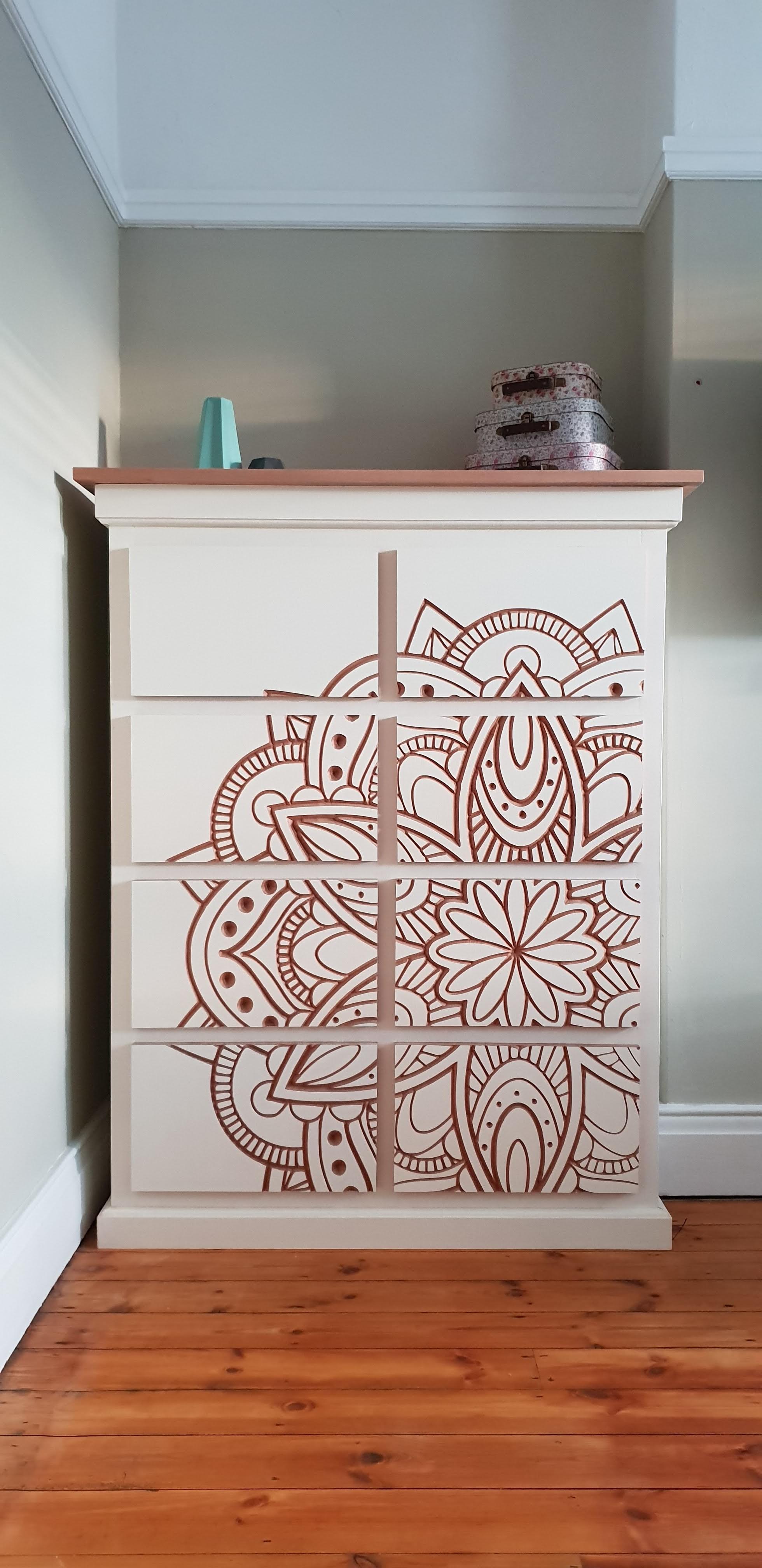 Mandala Chest of Drawers