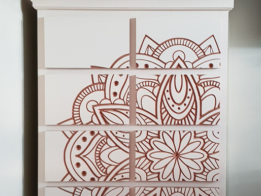 Mandala Chest of Drawers finished