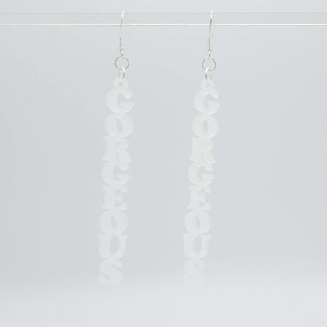 Gorgeous acrylic earrings