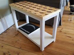 Geometric handmade wooden table