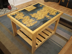 Games of Thrones map table